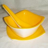 SQ Acrylic Soup Bowl Set