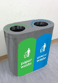 Waste segregation bin 40 Dua Steel