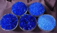 Blue Silica gel semi-transparent glassy crystals
