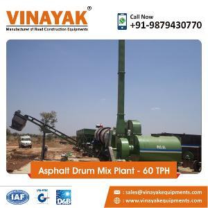 60 TPH Asphalt Drum Mix Plant