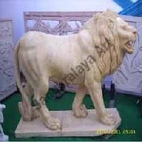 Marble Lion Statue 03