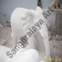 Marble Elephant Statue 09