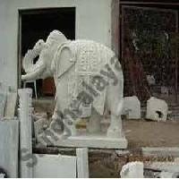 Marble Elephant Statue 08