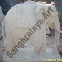 Marble Elephant Statue 01