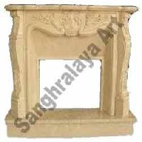 Decorative Stone Fireplace 01