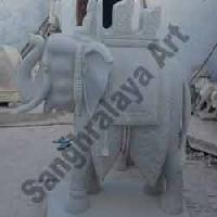 Marble Elephant Statue 14