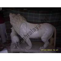 Marble Lion Statue 08