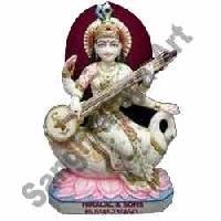Marble Maa Saraswati Statue 08