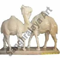 Marble Camel Statue 01