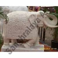 Marble Elephant Statue 19