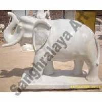 Marble Elephant Statue 16