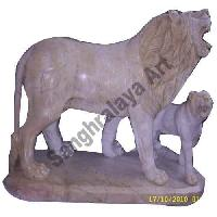 Marble Lion Statue 01