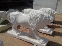 Marble Lion Statue 04
