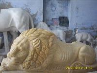 Marble Lion Statue 07