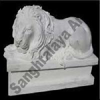 Marble Lion Statue 06
