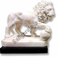 Marble Lion Statue 02