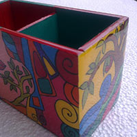 Hand Painted Pen Stand 04