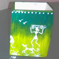 Hand Painted Pen Stand 07