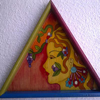 Hand Painted Wooden Tray 03