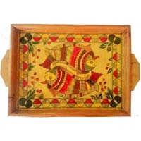 Hand Painted Wooden Tray 12