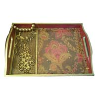Hand Painted Wooden Tray 16