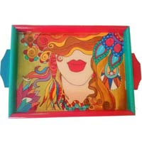 Hand Painted Wooden Tray 17