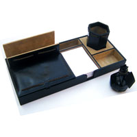 Leather Desktop Organizer 02