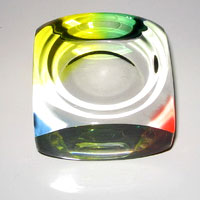 Multi Color Glass Paper Weight