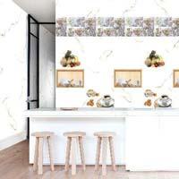300 X 450 Glossy Kitchen Series Tiles (Statuario 01)
