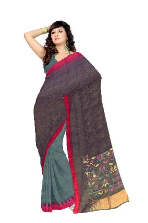 Hand Woven Cotton Saree 02