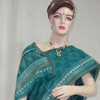 BLOCK PRINTED CHANDERI SILK SAREE