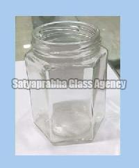 Glass Hexagonal Jars