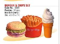 Burger & Chips Set