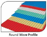 uPVC Round Wave Profile Roofing Sheets