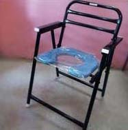 Commode Chair With Backrest