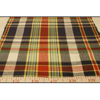 Madras Check Fabric