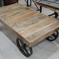 Mango Wood Trolley
