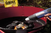 Hot air blower for Barbecuing.