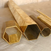 Hexagonal Brass Tubes