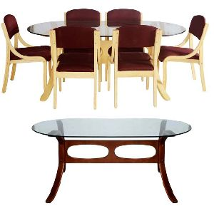 Bentwood Dining Table Set 02