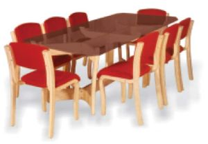 Bentwood Dining Table Set 04