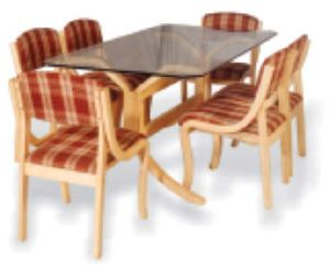 Bentwood Dining Table Set 06