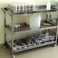 Stainless Steel Lab Trolley