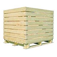 1000 kg wooden crates