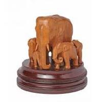 Elephant with Cubs Statue