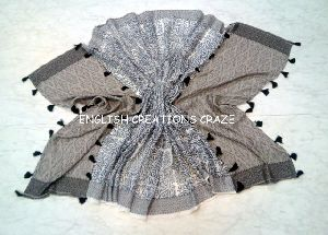 Cotton Scarves with pompom EC-6520 A