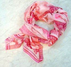 Cotton Silk  Jacquard scarves EC-6137-A