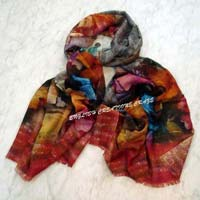 Silk Wool Digital Printed Scarves