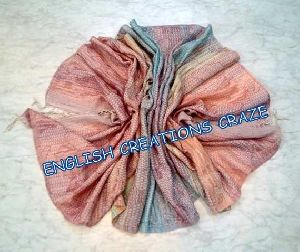 Wool  Cotton  Acrylic Jacquard Scarf (EC-6453 A-2-1)
