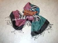 Wool Cotton Jacquard Scarf (EC-6156)